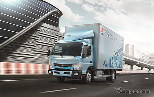 "Hybrid truck ""Canter eco hybrid"" Taiwan specification car"