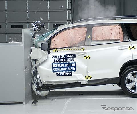 New Subaru Forester in the IIHS crash tests
