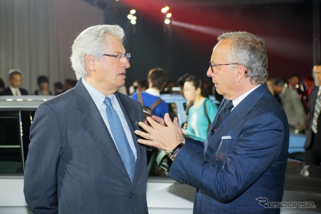Giugiaro (left) and de Silva