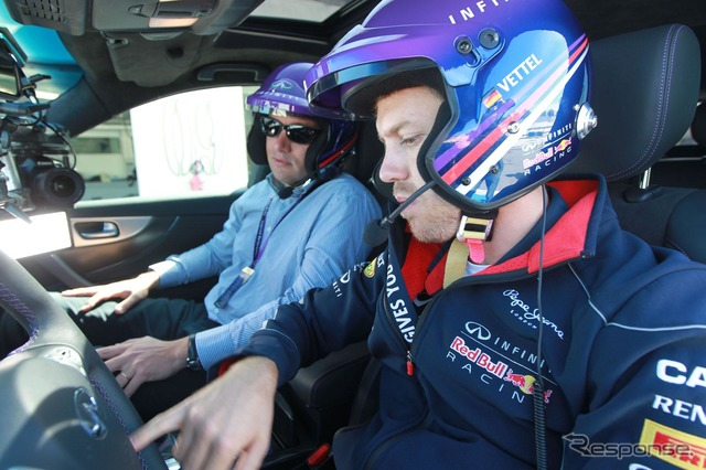 Sebastian Vettel who participated in the Infiniti cars made by Ricard testing