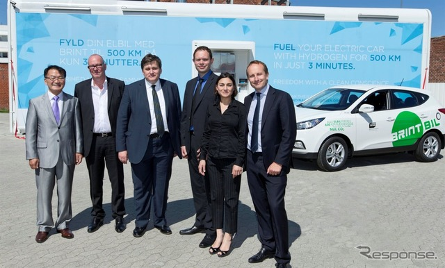 Ix35 fuelcell, fuel cell vehicles, Hyundai was delivered to Denmark Copenhagen