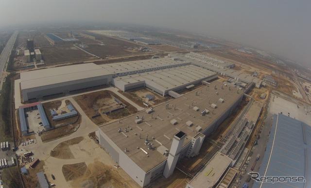 Primero de Volvo cars China planta de vehículos terminados se completó en Chengdu Sichuan China