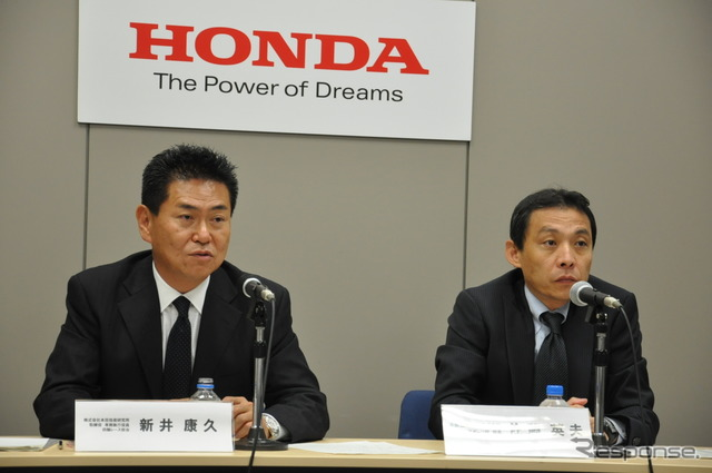 Honda Technical Research Institute, new Arai h. Board of Directors (left), Hideo SATO, Honda Motor Motorsports Division