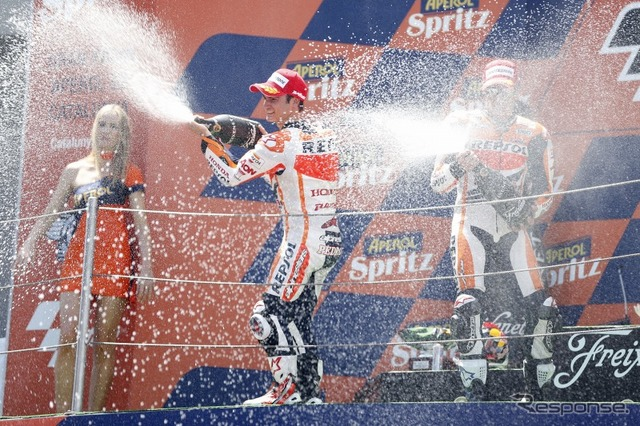 MotoGP Pedrosa and Marc Marquez players