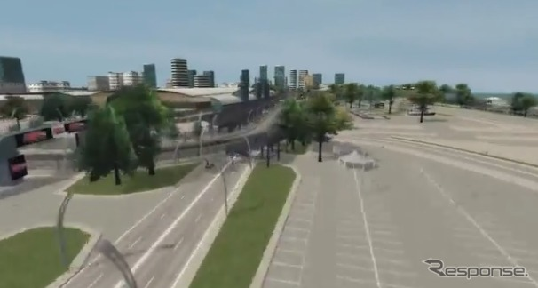 Virtual lap of Toronto Street Circuit (video capture)