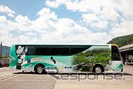 Michelin hijau liner No. Namun semua bus operasi dimulai dari 7/10 dioperasikan di kinosaki-Osaka baris