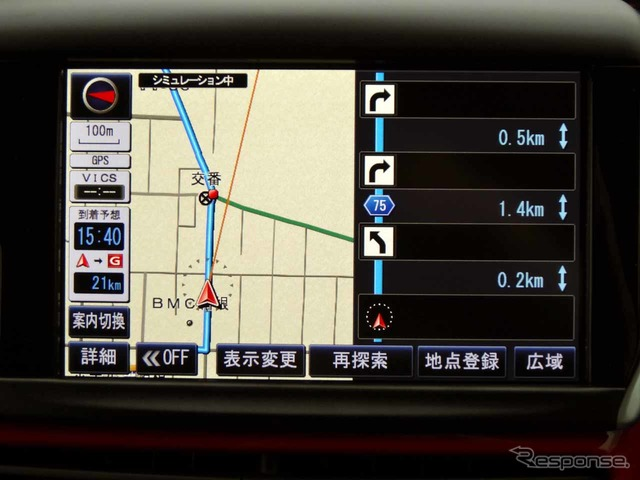 ターンリスト guided by Panasonic's navigation options