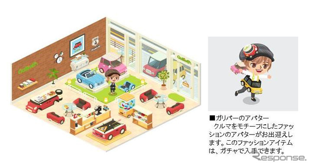 LINE PLAY and official Gulliver's room