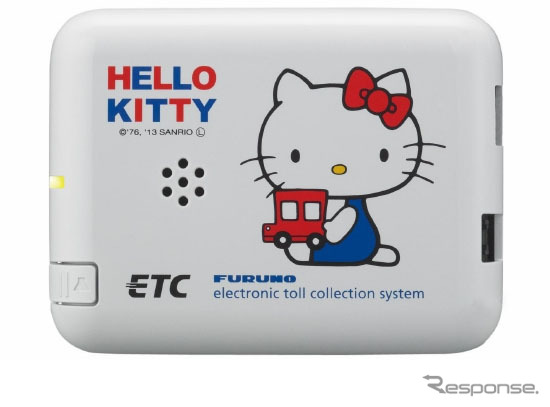 Hello Kitty's anime voice guide with on-board equipment for ETC