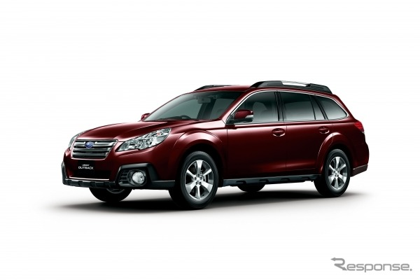 Subaru legacy Outback, special specification car. Equipped with private large roof rails and front Grill