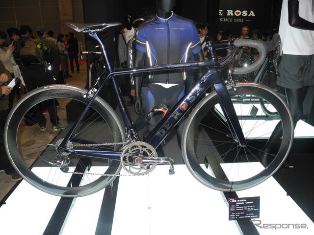 DeRosa's 60th anniversary model, made of carbon (2013 cycle mode)