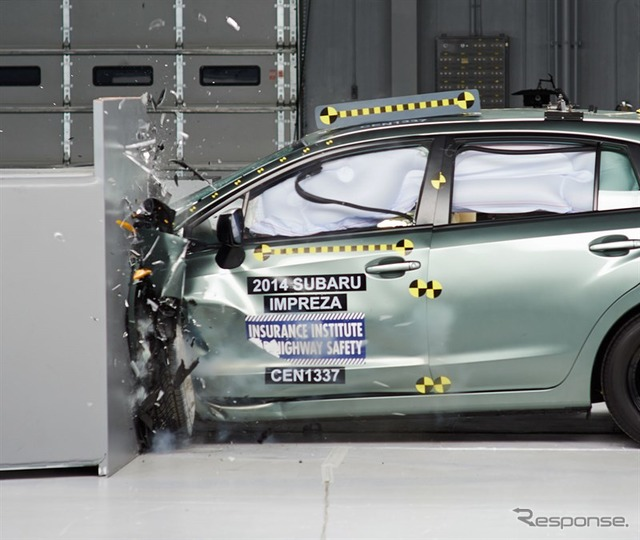 New small overlap crash tests conducted by U.S. IIHS Subaru Impreza