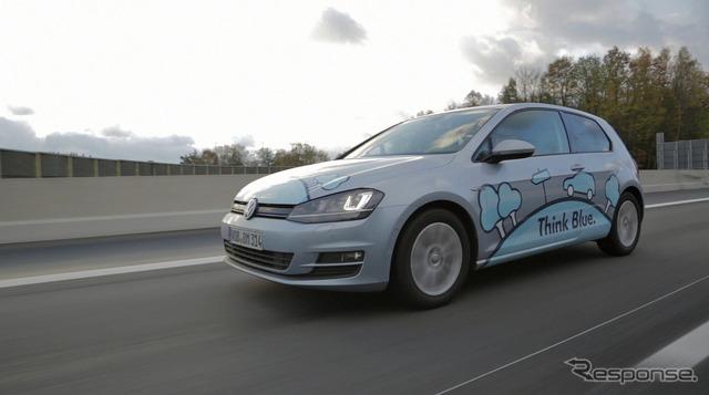 جديد فولكس واجن غولف TDI الأزرق الحركة