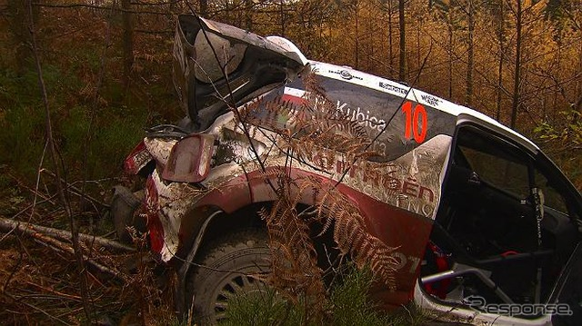 Robert Kubica crashed in the opening stage of the 3 leg