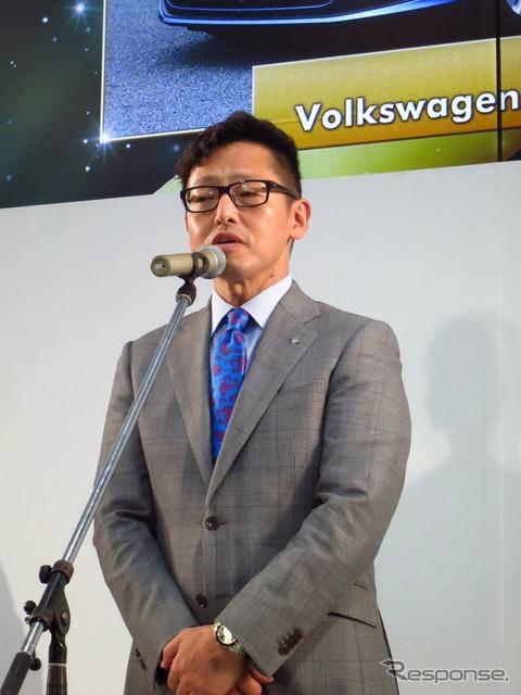 """محادثات """"اليابان مجموعة فولكس فاجن"""" عن الفرح في حفل توزيع الجوائز مع 司茂 الرئيس"""