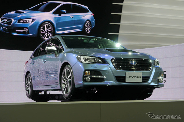 The world premiere at the Tokyo Motor Show 2013 Meeker Subaru 'レヴォーグ'