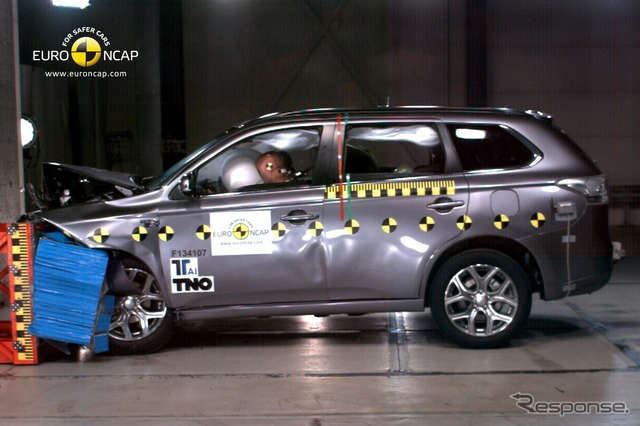 Mitsubishi Outlander PHEV in Euro NCAP crash tests