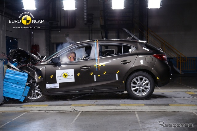 New MAZDA3 in the Euro NCAP crash tests