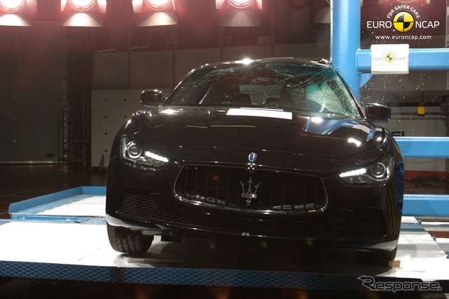 New Maserati Ghibli of Euro NCAP crash tests
