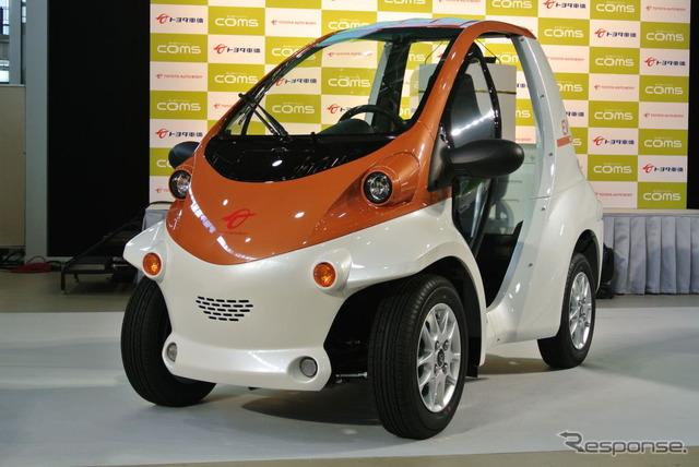 """丰田通商 11/28,超小型电动汽车 (ev)""""coms 的作为旅游和商业,爱"""