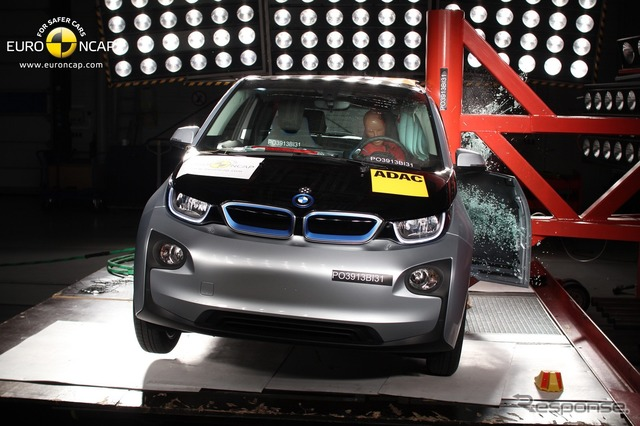 BMW i3 of the Euro NCAP crash test
