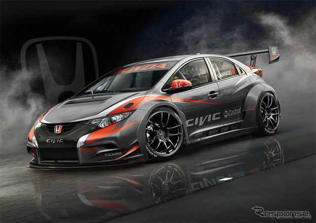 Honda Civic WTCC for 2014, currently under development