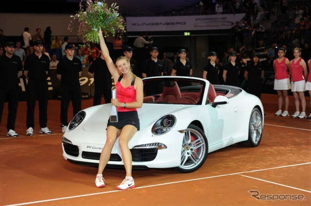 Maria Sharapova won in last year's Porsche tennis Grand Prix