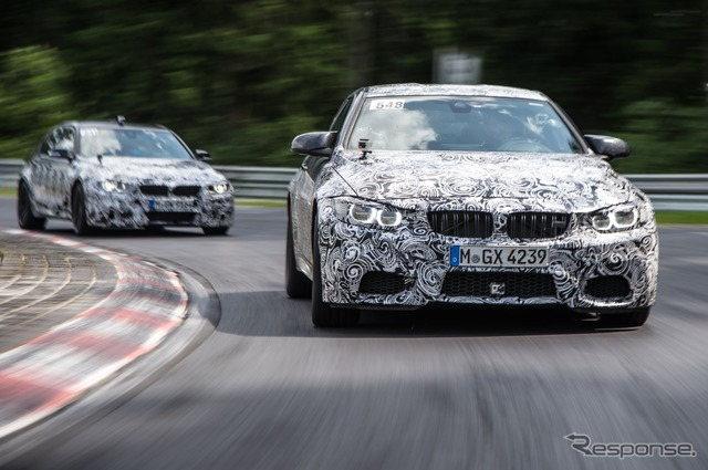 BMW M4 Coupe developed prototype vehicles