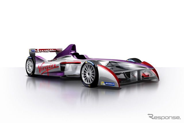 Team Virgin racing formula E machine design sketch