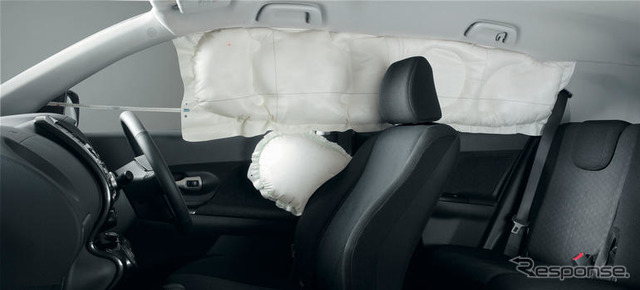 Side airbags and curtain airbags (reference image)