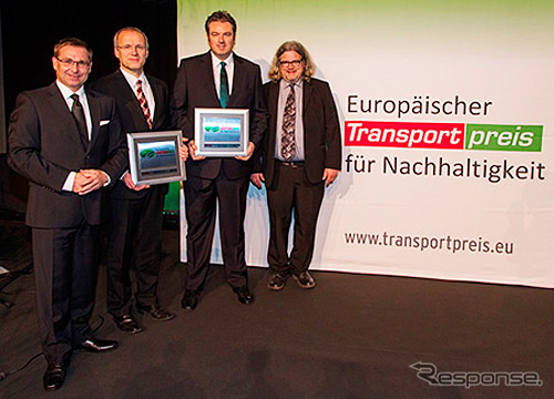 European sales chief Dettling accepts the award.