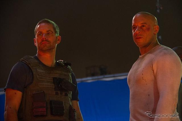 """""""Wild speed 7 ' of the final scenes of Paul Walker and Vin Diesel"""