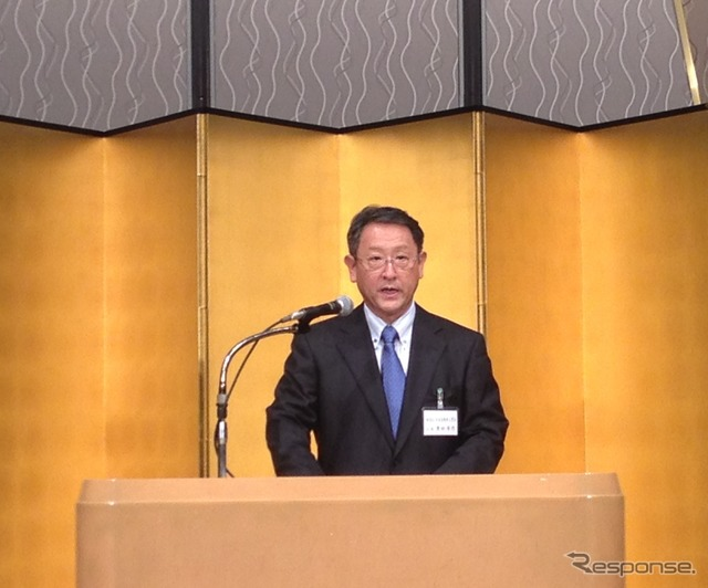 JAMA chairman Akio Toyoda(2014 Japan Automobile Manufacturer's Association greeting reception)