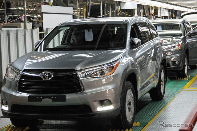 New Toyota Highlander TMMI Toyota Motor Manufacturing Indiana in Princeton started production