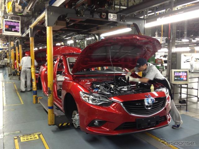 Mazda hofu station assembly line