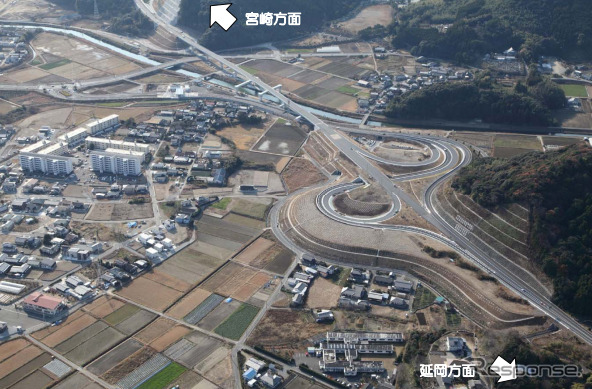 Hinata interchange near