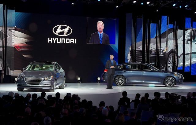 New Hyundai Genesis sedan (14 Detroit Motor Show)