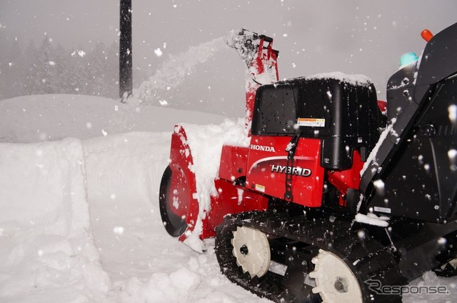 Hybrid Snowplow for Honda performance experience [video]