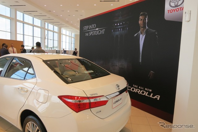 Corolla advertising featuring Cristiano Ronaldo at Dubai city dealers