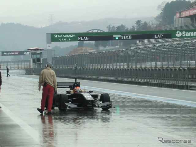 12/2013 Fuji test is also affected by the snow, piling driving development for SF14 Toyota and Honda each one could