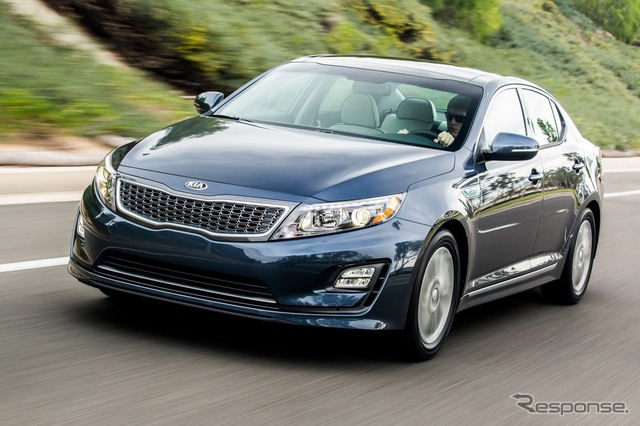 2014, The Kia Optima hybrid model.