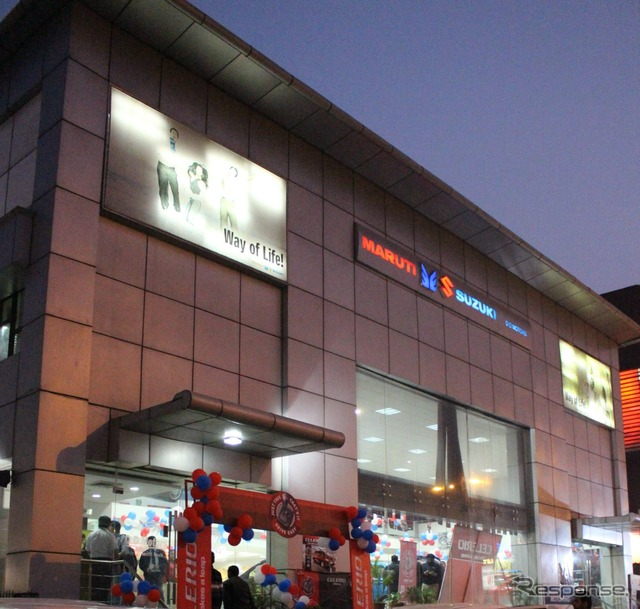 Maruti Suzuki dealership in the Mayapuri locality of New Delhi