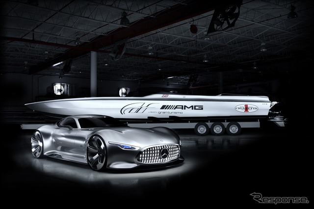 Mercedes-Benz AMG vision Gran Turismo and シガレットレーシング, powerboat, 50 ' vision GT concept
