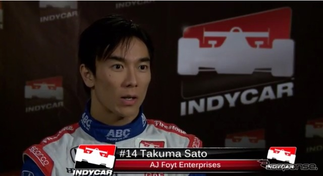 Takuma Sato interview (video capture)