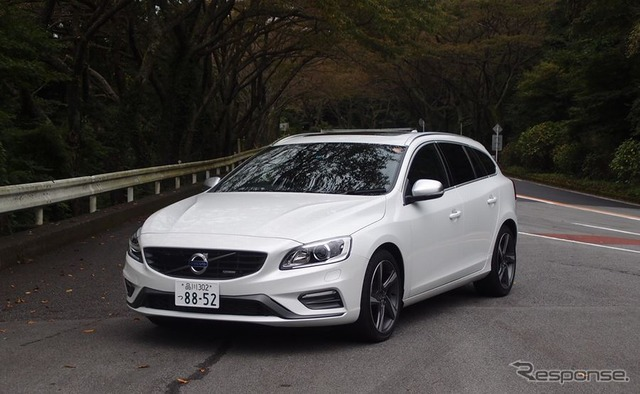 [Design of the Volvo V60 R of T4 test] can't afford bringing performance of α. Matsushita Hiroshi