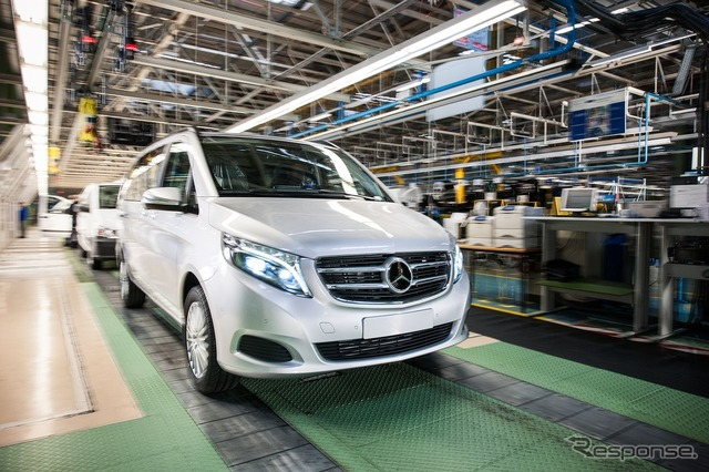 New Mercedes-Benz V class was started production at the Vitoria factory in Spain