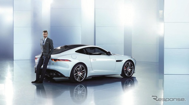 David Beckham, and Jaguar F タイプクーペ