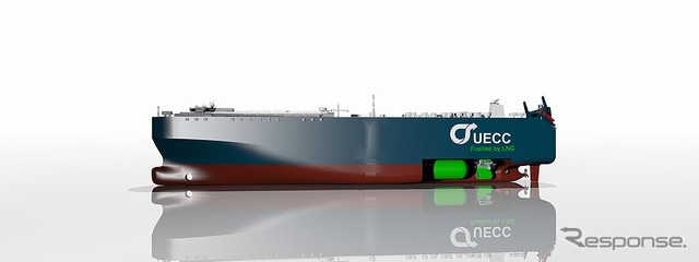 Adopted the dual fuel engine car carrier (image)