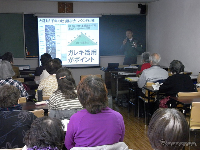 Sakurai Mitsuo CSR to a lecture and Office for environment and participants