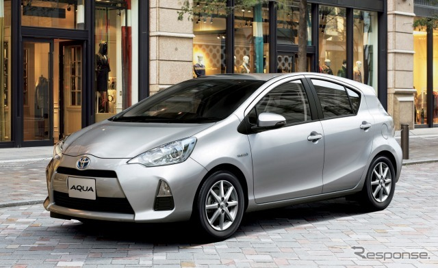The Toyota Aqua attains double crowning for Hybrid Vehicle category and New Model Vehicle category with 22.4km/liter (Reference Image)